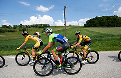 Anze SKOK of LJUBLJANA GUSTO SANTIC, Uroš REPSE of Team Slovenia, Jernej HRIBAR of LJUBLJANA GUSTO SANTIC during 1st Stage of 27th Tour of Slovenia 2021 cycling race between Ptuj and Rogaska Slatina (151,5 km), on June 9, 2021 in Slovenia. Photo by Vid Ponikvar / Sportida