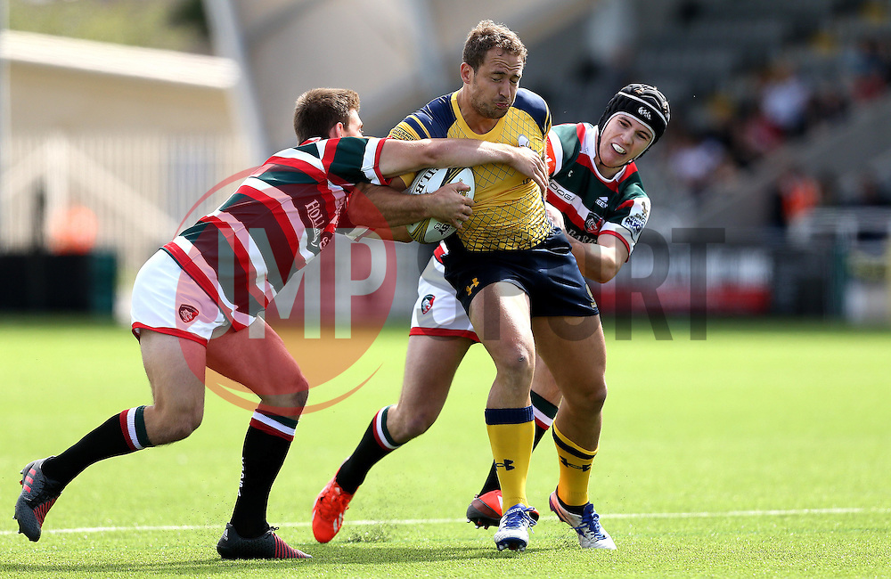 Jaike Carter of Worcester Warriors runs through a couple of tackles - Mandatory by-line: Robbie Stephenson/JMP - 30/07/2016 - RUGBY - Kingston Park - Newcastle, England - Worcester Warriors v Leicester Tigers - Singha Premiership 7s
