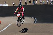 #93 (STEVAUX CARNAVAL Priscila) BRA at the 2013 UCI BMX Supercross World Cup in Chula Vista