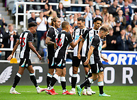 Football - 2021 / 2022 - Pre-Season Friendly - Newcastle United vs Norwich City - St James Park - Saturday 7th August 2021<br /> <br /> Dwight Gayle of Newcastle United celebrates scoring to make it 2-0 to Newcastle<br /> <br /> Credit: COLORSPORT/Bruce White