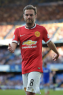 Juan Mata of Manchester United in action. Barclays Premier league match, Chelsea v Manchester Utd at Stamford Bridge Stadium in London on Saturday 18th April 2015.<br /> pic by John Patrick Fletcher, Andrew Orchard sports photography.