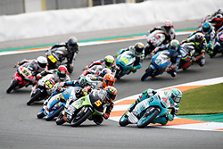 November 17, 2019, Cheste, VALENCIA, SPAIN: Marcos Ramirez, raider of Leopard Racing from Spain, leads during the Moto3 race of the Valencia Grand Prix of MotoGP World Championship celebrated at Circuit Ricardo Tormo on November 16, 2019, in Cheste, Spain. (Credit Image: © AFP7 via ZUMA Wire)