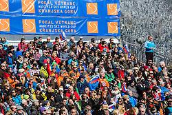 Supporters during 9th Men's Giant Slalom race of FIS Alpine Ski World Cup 55th Vitranc Cup 2016, on March 4, 2016 in Kranjska Gora, Slovenia. Photo by Vid Ponikvar / Sportida
