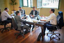 Porto Alegre, RS - 02/04/2020: Nelson Marchezan Júnior participa de videoconferência para discutir importância da análise de dados na pandemia. Foto: Jefferson Bernardes/PMPA