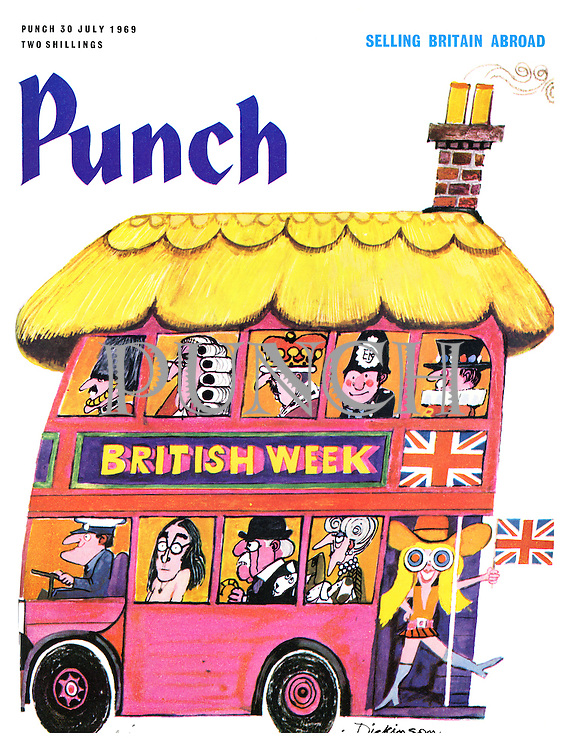 (Punch cover, 30 July 1969 illustrating British Week)