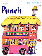 (Punch cover, 30 July 1969 illustrating British Week)