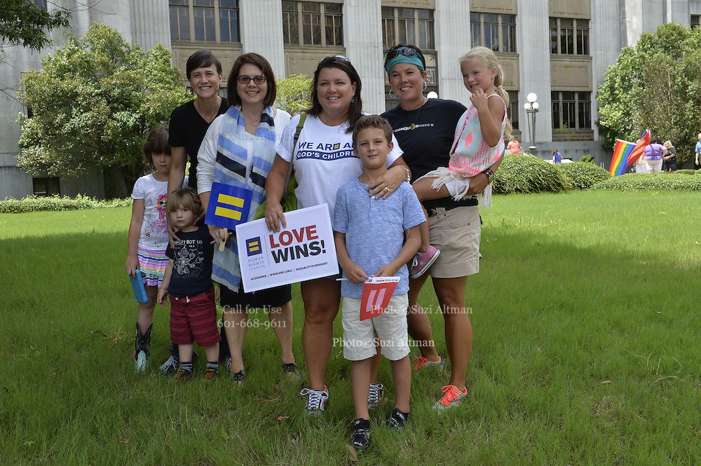 In a long sought victory the United States Supreme Court ruled 5-4 in favor of same sex marriage.  Even though the US Supreme Court ruled in favor of same sex marriage and the Constitution guarantees a right to same sex marriage, the State of Mississippi refused to issue marriage licenses to same sex couples at the Jackson County Clerks office Friday June 26, 2015. Photo © Suzi Altman