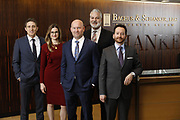 SHOT 1/8/19 12:10:44 PM - Bachus & Schanker LLC lawyers James Olsen, Maaren Johnson, J. Kyle Bachus, Darin Schanker and Andrew Quisenberry in their downtown Denver, Co. offices. The law firm specializes in car accidents, personal injury cases, consumer rights, class action suits and much more. (Photo by Marc Piscotty / © 2018)