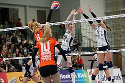 20180331 NED: Eredivisie Sliedrecht Sport - Regio Zwolle, Sliedrecht <br />Maureen van der Woude (8) of Regio Zwolle, Carlijn Ghijssen- Jans (10), Esther Hullegie (3) of Sliedrecht Sport  <br />©2018-FotoHoogendoorn.nl / Pim Waslander