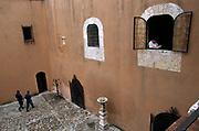Spanish colonial architecture, courtyard, Santo Domingo, Dominican Republic