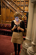 LAUREN SMITH, Man Booker prize 2011. Guildhall. London. 18 October 2011. <br /> <br />  , -DO NOT ARCHIVE-© Copyright Photograph by Dafydd Jones. 248 Clapham Rd. London SW9 0PZ. Tel 0207 820 0771. www.dafjones.com.