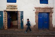 In the historic center of Cuzco
