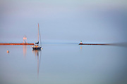 Grand Marais Harbor, Sweet Light during the Magic hour of light in early Morning and late evening.