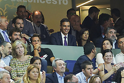 September 17, 2018 - Madrid, Spain - Pedro Sánchez  attend the 2019 FIBA Basketball World Cup qualification match between Spain and Latvia at WiZink Center in Madrid, Spain, 17 September 2018  (Credit Image: © Oscar Gonzalez/NurPhoto/ZUMA Press)