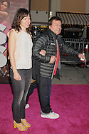 """WESTWOOD, CA - APRIL 28: Jack Black and guest arrive at the premiere of Universal Pictures' """"Bridesmaids"""" held at Mann Village Theatre on April 28, 2011 in Los Angeles, California."""