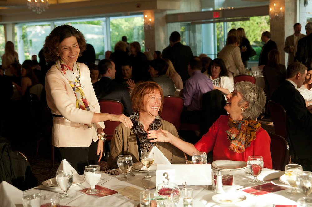 From left to right- Illinois Appellate Judge Justice Ann B. Jorgensen greets Dupage County Circuit Court Judges Linda E. Davenport and Dorothy French Mallen during the DuPage Association of Women Lawyers Installation Dinner at Meson Sabika in west suburban Naperville on Thursday, June 6th. © 2013 Brian J. Morowczynski ViaPhotos