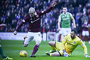 Shot on goal from new signing Steven Naismith during the William Hill Scottish Cup 4th round match between Heart of Midlothian and Hibernian at Tynecastle Stadium, Gorgie, Scotland on 21 January 2018. Photo by Kevin Murray.