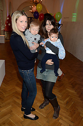 Left to right, AMANDA SELLMAN and her son ELLIS SELLMAN and MARTHA FREUD and her daughter NANCY FREUD-SMITH at a children's tea party to celebrate the 80th anniversary of iCandy - the luxury British pushchair brand held at One Marylebone, Marylebone Road, London NW1 on 10th September 2013.