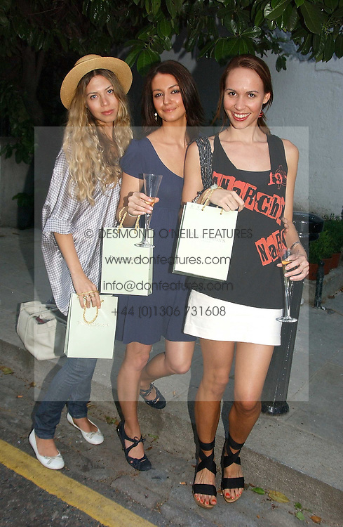 Left to right, SOPHIE SCHNEIDER-POWELL, KATIE BAIN and SKYE GOWRIE-SMITH at a party to celebrate the re-launh of Penhaligon's at 132 Kings Road, London SW3 on 7th June 2006.<br /><br />NON EXCLUSIVE - WORLD RIGHTS