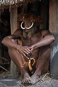Dani tribe man (Ekeyagay)<br /> Budaya village<br /> Suroba<br /> Trikora Mountains<br /> West Papua<br /> Indonesia