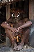 Dani tribe man (Ekeyagay)<br /> Budaya village<br /> Suroba<br /> Trikora Mountains<br /> West Papua<br /> Indonesia