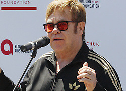May 28, 2018 - Kiev, Ukraine - English musician ELTON JOHN speaks as he attends a charity event to support innovative HIV prevention and to raise awareness about AIDS in Kiev, Ukraine. (Credit Image: © Serg Glovny via ZUMA Wire)