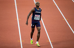 Marvin Rene of France prior to the 60m Men heats on day two of the 2017 European Athletics Indoor Championships at the Kombank Arena on March 4, 2017 in Belgrade, Serbia. Photo by Vid Ponikvar / Sportida