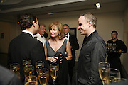Julie Peyton-Jones and Hans Obrist, 3rd [annual] FORTUNE Global 500 Gala, Serpentine Gallery. 19 September 2006. ONE TIME USE ONLY - DO NOT ARCHIVE  © Copyright Photograph by Dafydd Jones 66 Stockwell Park Rd. London SW9 0DA Tel 020 7733 0108 www.dafjones.com