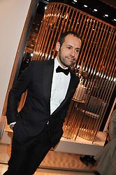 MASSIMILIANO GIORNETTI Ferragamo's creative director at the Salvatore Ferragamo Old Bond Street Boutique Store Launch on 5th December 2012.