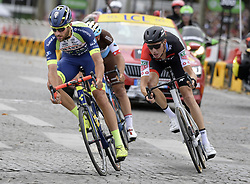 July 29, 2018 - Paris, FRANCE - Belgian Guillaume Van Keirsbulck (L) of Wanty-Groupe Gobert pictured in action during the last stage of the 105th edition of the Tour de France cycling race, 116km from Houilles to Paris, France, Sunday 29 July 2018. This year's Tour de France takes place from July 7th to July 29th. BELGA PHOTO YORICK JANSENS (Credit Image: © Yorick Jansens/Belga via ZUMA Press)