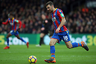 James McArthur of Crystal Palace in action. Premier League match, Crystal Palace v Newcastle Uutd at Selhurst Park in London on Sunday 4th February 2018. pic by Steffan Bowen, Andrew Orchard sports photography.