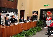 Pesaro , 06/03/2012<br /> Basket, conferenza stampa presentazione all star game 2012<br /> Nella foto: valentino renzi, dino meneghin, maurizio bezzecchi<br /> Foto Ciamillo