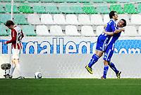 Fotball , 28. januar 2011, Copa del Sol , <br /> Tromsø - IFK Göteborg 0-2<br /> <br /> Jubel av Tobias Hysen (7) og Elmar Bjarnason , IFK<br /> Bak: Tom Høgli , TIL