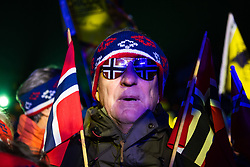 February 22, 2019 - Seefeld In Tirol, AUSTRIA - 190222 Fans of Norway ahead of the medal ceremony for women´s cross-country skiing sprint during the FIS Nordic World Ski Championships on February 22, 2019 in Seefeld in Tirol..Photo: Joel Marklund / BILDBYRÃ…N / kod JM / 87883 (Credit Image: © Joel Marklund/Bildbyran via ZUMA Press)