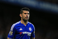 Diego Costa of Chelsea looks on. Barclays Premier league match, Chelsea v Tottenham Hotspur at Stamford Bridge in London on Monday 2nd May 2016.<br /> pic by Andrew Orchard, Andrew Orchard sports photography.