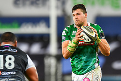 Sebastian Negri of Benetton Treviso<br /> <br /> Photographer Craig Thomas/Replay Images<br /> <br /> Guinness PRO14 Round 4 - Ospreys v Benetton Treviso - Saturday 22nd September 2018 - Liberty Stadium - Swansea<br /> <br /> World Copyright © Replay Images . All rights reserved. info@replayimages.co.uk - http://replayimages.co.uk