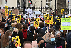 © Licensed to London News Pictures. 03/04/2021. London, UK. Protesters take part in a demonstration in Hyde Park against the Government's proposed Police, Crime, Sentencing and Courts Bill. Photo credit: Ray Tang/LNP