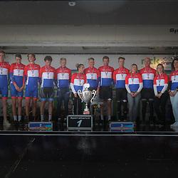 30-09-2017: Wielrennen: Nederlands kampioenschap clubteams: Dronten <br />Alle kampioenen. A en B Categorie UWTC de Volharding, C Categorie WV Noord Holland
