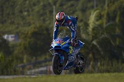 February 7, 2019 - Sepang, Malaysia - Team Suzuki ECSTAR's rider Alex Rins of Spain in action during the second day of the 2019 MotoGP pre-season testing at Sepang International Circuit February 7, 2019. (Credit Image: © Zahim Mohd/NurPhoto via ZUMA Press)
