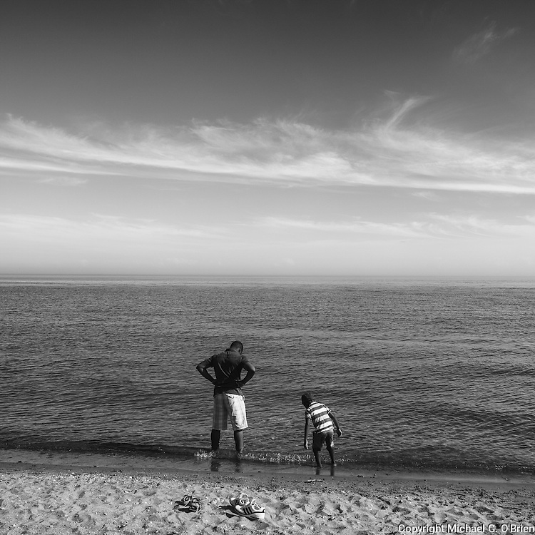 It's a special experience for a child when a parent introduces them to a large body of water like the enormous Lake Ontario - it's like a reminder of something infinitely bigger than us - that we are part of.