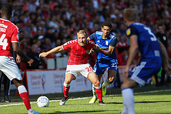Jude Bellingham of Birmingham City and Chris Solly of Charlton Athletic tussle for the ball - Mandatory by-line: Arron Gent/JMP - 14/09/2019 - FOOTBALL - The Valley - Charlton, London, England - Charlton Athletic v Birmingham City - Sky Bet Championship