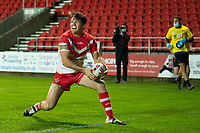 Rugby League - 2020 Betfair Super League - Semi-final - St Helens vs Catalan Dragons - TW Stadium<br /> <br /> St. Helens's Lachlan Coote celebrates scoring a try<br /> <br /> COLORSPORT/TERRY DONNELLY