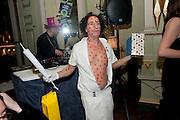 PHILIP SALLON Philip Sallon's mass paranoia swine flu birthday party. Home House. Portman Sq. London. 13 November 2009.