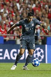 September 19, 2018 - Lisbon, Portugal - James Rodriguez of Bayern Munchen  in action  during Champions League 2018/19 match between SL Benfica vs FC Bayern Munchen, in Lisbon, on September 19, 2018. (Credit Image: © Carlos Palma/NurPhoto/ZUMA Press)