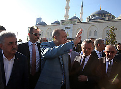 June 25, 2017 - °Stanbul, Türkiye - Turkish President Recep Tayyip Erdogan comes to Mimar Sinan Mosque for morning service on the first day of Muslims Bayram, Istanbul, Turkey, 25th of June, 2017. (Credit Image: © Depo Photos via ZUMA Wire)