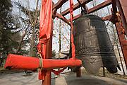 Buddhist morning prayer bell at Small Wild Goose Pagoda, Xian, China