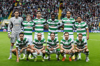 19/08/15 UEFA CHAMPIONS LEAGUE PLAY-OFF 1ST LEG<br /> CELTIC V MALMO<br /> CELTIC PARK - GLASGOW<br /> Celtic squad.<br /> <br /> Back Row (L/R): Craig Gordon, James Forrest, Nir Bitton, Dedryck Boyata, Virgil Van Dijk and Emilio Izaguirre.<br /> <br /> Front Row (L/R): Mikael Lustig, Scott Brown, Stefan Johansen, Stuart Armstrong and Leigh Griffiths.