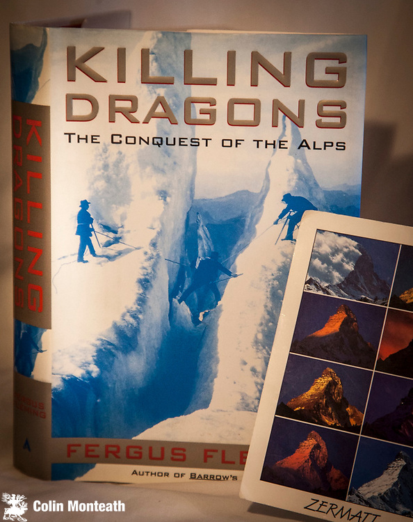 KILLING DRAGONS - FERGUS FLEMING, 1st US edn., Atlantic Monthly Press, New York, 2000, VG+ in VG+ jacket, as new - The Conquest of the Alps told by a brilliant writer - $55