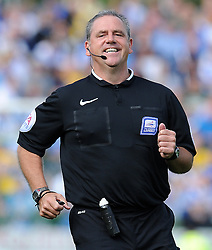 Match Referee Brendan Malone - Photo mandatory by-line: Harry Trump/JMP - Mobile: 07966 386802 - 15/08/15 - SPORT - FOOTBALL - Sky Bet League Two - Yeovil Town v Bristol Rovers - Huish Park, Yeovil, England.