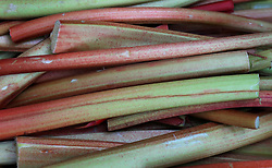 A view of rhubarb for sale on a fruit and vegetable stall in London. Picture date: Thursday May 2, 2019. Photo credit should read: Gareth Fuller/PA Wire
